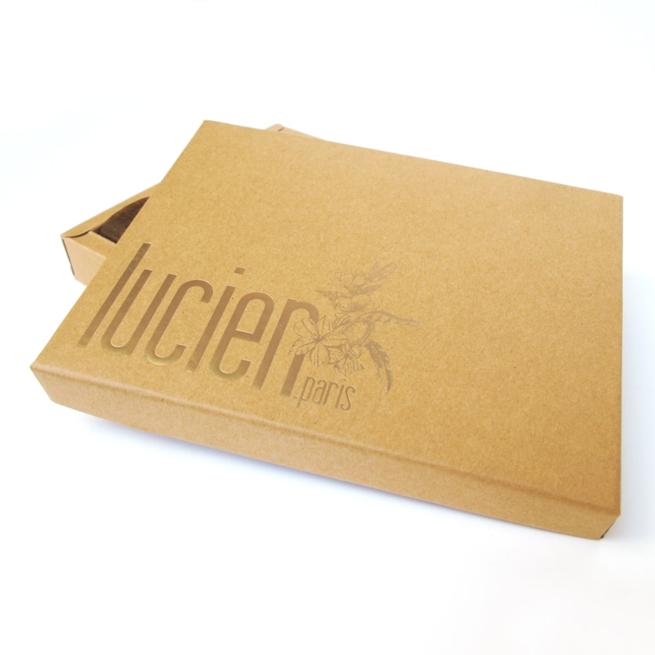 Gift box pastry almond cake financier Lucien