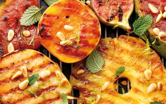 Fruits rôtis accompagnement Lucien financier aux amandes et au chocolat