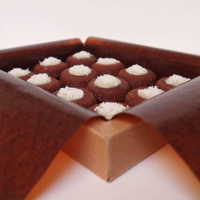 financier lucien chocolate coconut organic almonds pastry dessert cake