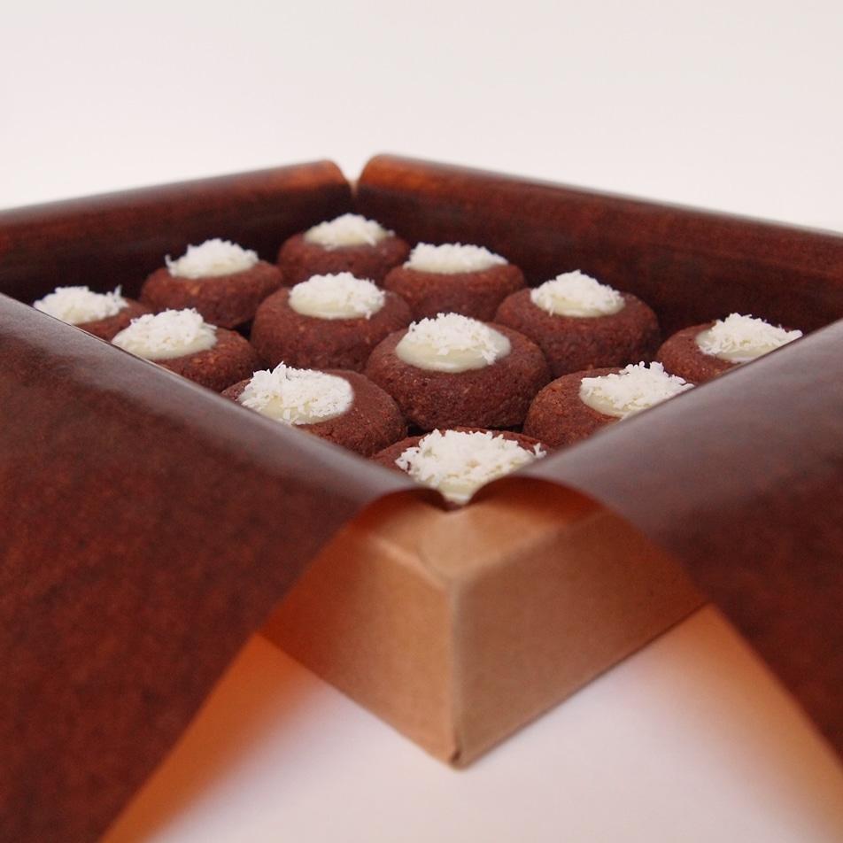 financier lucien chocolat noix de coco aux amandes bio pâtisserie dessert gâteau