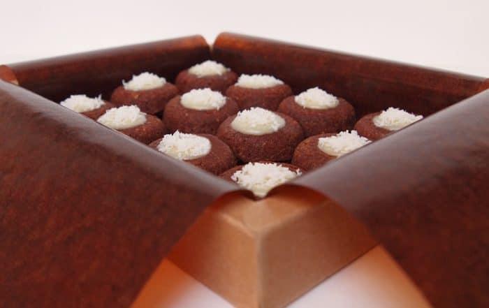 coffret lucien financier bio chocolat noix de coco patisserie dessert gateau