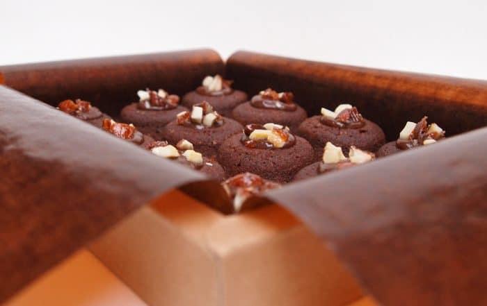 lucien financier chocolat praliné amande