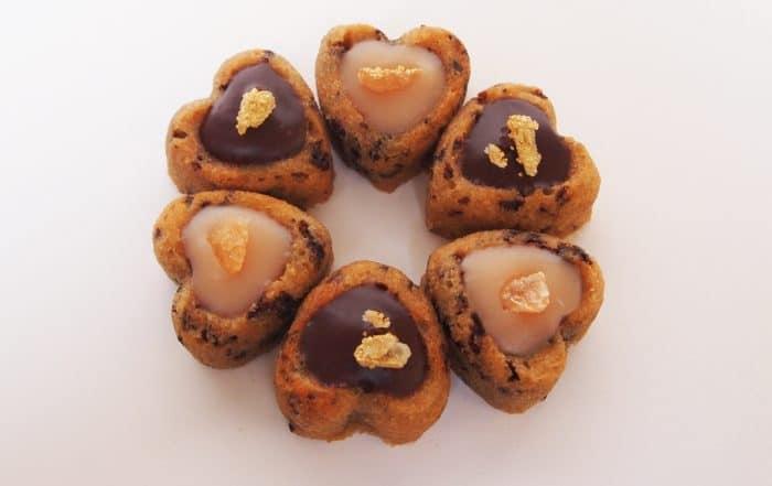 lucien financiers cœurs saint valentin amandes bio chocolat pamplemousse gingembre petits fours dessert pâtisserie